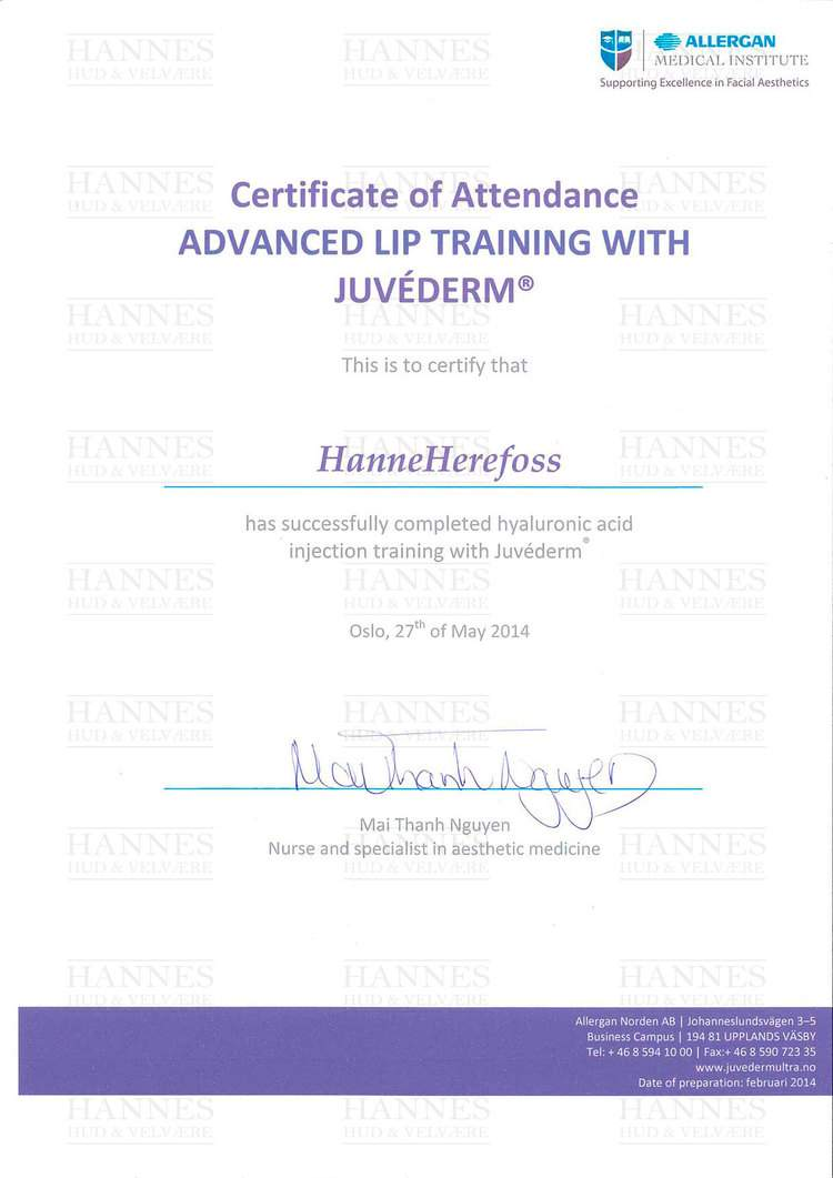 AMI (Allergan Medical Institute): Advanced Lip Training with Juvéderm® – Hyaluronic acid injection training with Juvéderm®
